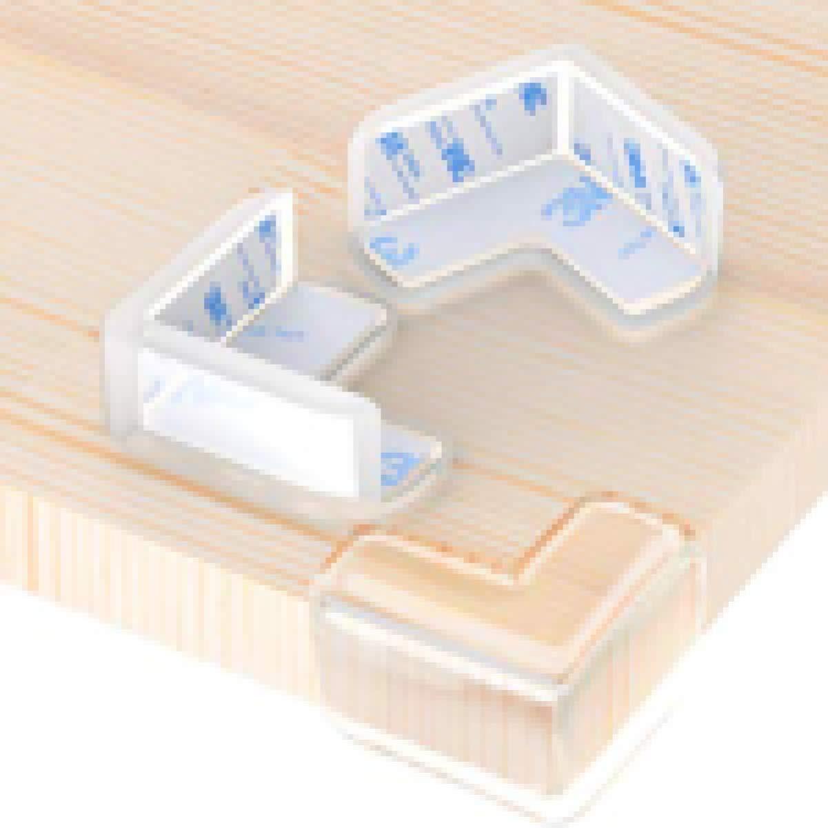 Payne Donne 12 unidades, transparentes, bordes suaves, con adhesivo para muebles de mesa Protectores de esquina para beb/é