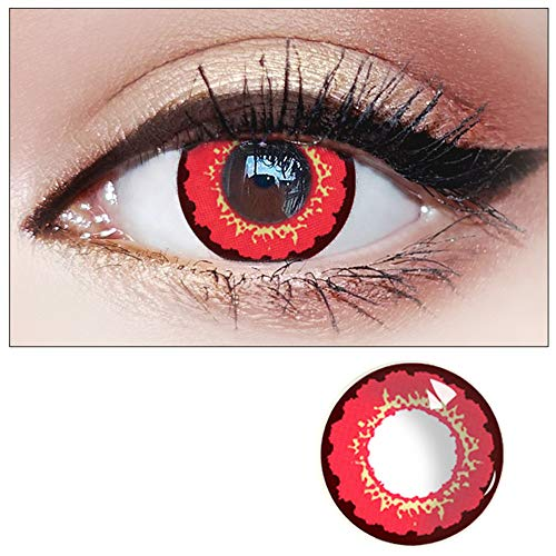 WQFXYZ Women Multi-Color Contact Lenses Cosplay Eyes Cute