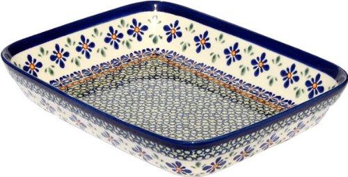 Polish Pottery Baking Dish 8 Inch X 10 Inch From Zaklady Ceramiczne Boleslawiec 370-du60 Unikat Pattern