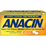 Anacin Fast Pain Relief Aspirin & Caffeine Pain Reliever, 300-Ct Coated Tablets
