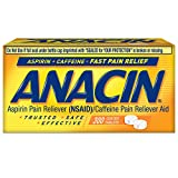 Anacin Fast Pain Relief Aspirin & Caffeine Pain Reliever | 300-Ct Coated Tablets