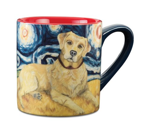 - Paw Palettes Yellow Lab Van Growl Ceramic Mug, 16-Ounce