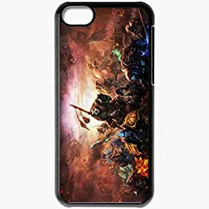 Personalized iPhone 5C Cell phone Case/Cover Skin Art Characters Weapon Black