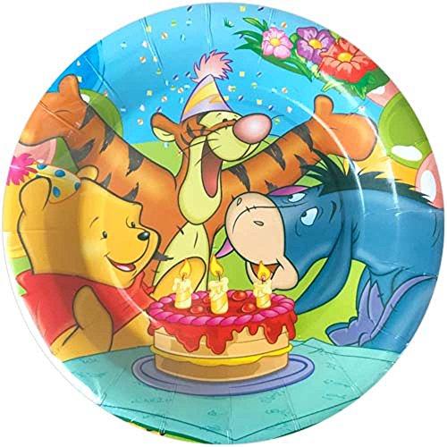 Winnie the Pooh 'Birthday Cake' Large Paper Plates (8ct)