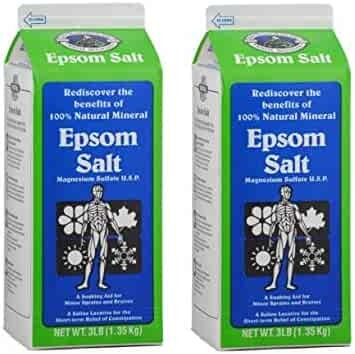White Mountain Epsom Salt 3 Lb Containers (Pack of 2)