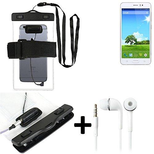 Estuche estanco al agua con entrada de auriculares para Bestore Star Note 5 N5D N9200 + auricular incluido, transparente | Trotar bolsa de playa al aire libre caja brazalete del teléfono caso de cásca