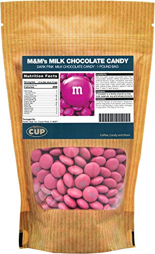 Dark Pink Milk Chocolate M&M'S Candy (1 Pound -