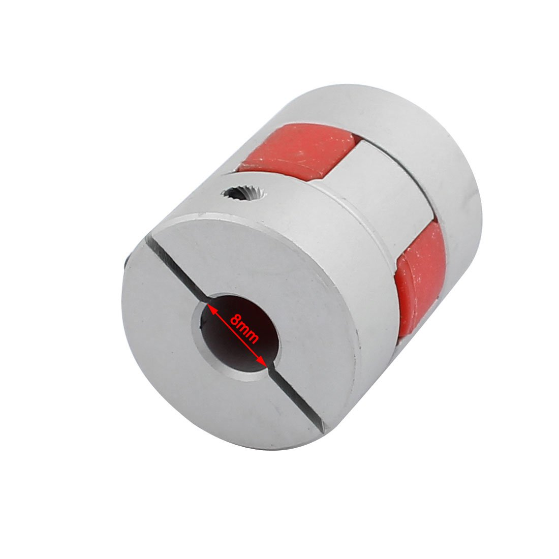 uxcell 8mm to 10mm Shaft Coupling 30mm Length 25mm Diameter Plum Motor Coupler Aluminum Alloy Joint Connector for DIY Encoder