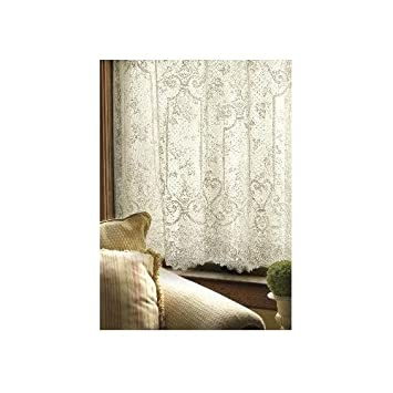 Heritage Lace English Ivy 60-Inch Wide by 63-Inch Drop Panel, White