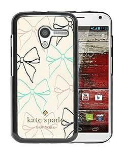 Unique Designed Kate Spade Cover Case For Motorola Moto X Black Phone Case 75