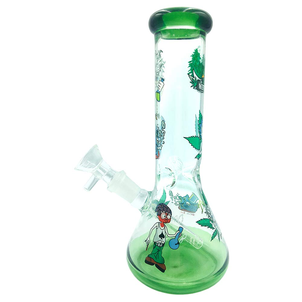 Very Thick and Heat-Resistant,Water Large Room Bubble penetrator MYLL 8-inch Hand-Crafted Art Glass Bottle