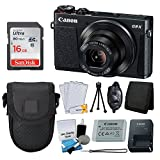 Canon PowerShot G9 X Digital Camera (Black) + SanDisk 16GB Memory Card + Point & Shoot Camera Case + Pro Hand Grip + 5 Piece Cleaning Kit + Memory Card Wallet + Screen Protectors + Great Value Bundle