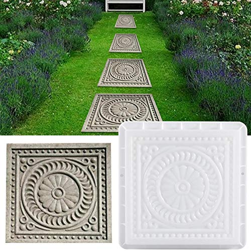 Square Paving Mould,DIY Garden Plastic Concrete Mold Stepping Stone Paver Brick Landscape Pedal Stone Path Mold