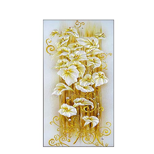 Diamond Painting Diy 5D Round Crystal Mosaic Lily Flower Embroidery 3D Cross Stitch Decorative Needlework Handemade Stamped Kit (90 50)