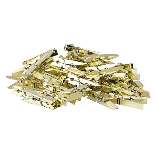 TTOYOUU Set of 48pcs Mini Plastic Spring Clothespins Photo Peg Pin Clips(1.4