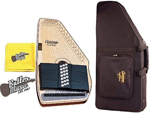 Oscar Schmidt OS11021FN Flame Natural 21 Chord Autoharp w/Hard Case and More by Oscar Schmidt