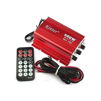 MASUNN Dc12V 500W Kinter Ma-700 Mini Fm Radio Tf Tarjeta Amplificador De Potencia Con