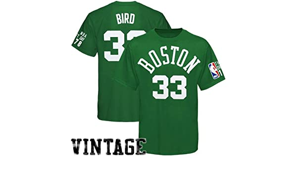 Adidas Larry Bird Boston Celtics Draft Day Player Green T-shirt camisa: Amazon.es: Deportes y aire libre
