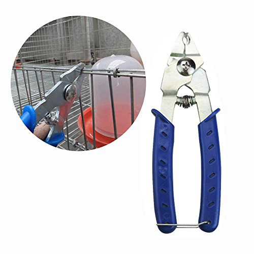 Rabbit Cage Fastener Pliers Fence Pliers Hog Ring Pliers for Chicken Quail Pigeon Pet Cage Clamp Installation Tool Poultry Bird Cage Coop M Shape Nails Livestocktool (cage pliers)
