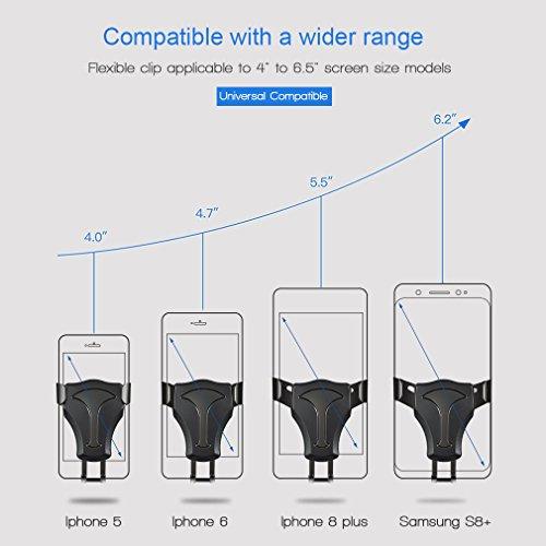 El cargador sin hilos del coche para el iPhone X/8/8 más, y otros dispositivos Qi-permitidos, proporciona rápido-cargando para Samsung Galaxy Note 8/S8/S8/S7/S7 edge/S6 edge/Note 5 Tipo 2(Without Wireless Cargador)