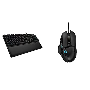 Logitech G513 RGB Backlit Mechanical Gaming Keyboard with Romer-G Tactile  Key Switches - Carbon & G502 HERO Gaming Mouse with HERO Sensor - EU  Package