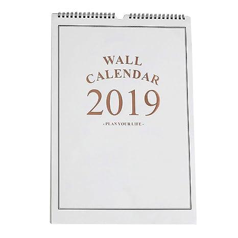 Calendarios 2019 Calendario de Pared Simple Agenda ...