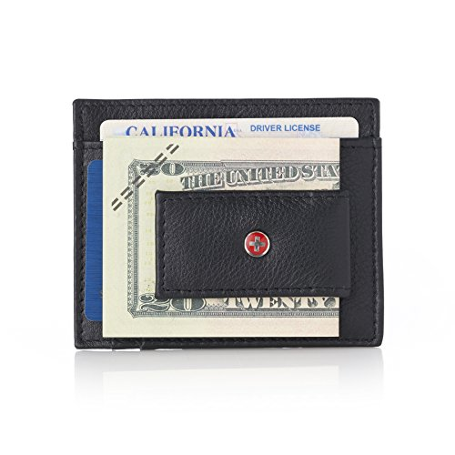 Swiss Money Clip - Alpine Swiss RFID Magnet Money Clip Wallet Black