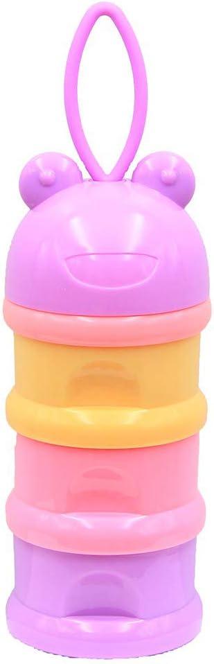 Plein Air Peut /être Empil/ée 3 Couche pour Voyage Bo/îte /à Snacks Poudre Bouteille de R/écipient Portative Minuya Distributeurs de lait en poudre