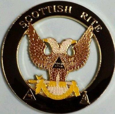 Wings Up (Freemason Scottish Rite Wings Up 32nd Degree Cut Out Car Emblem)