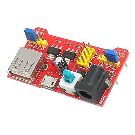 makerspot placa de pruebas módulo fuente de alimentación de 3,3 V/5 V