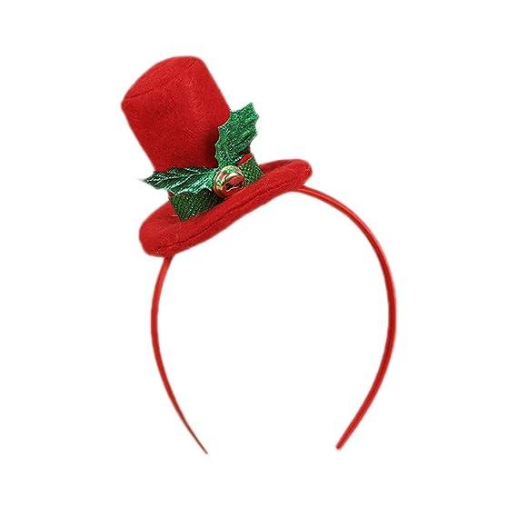 LAMEIDA Diademas de navidad Sombrero Hairband Tocado lindo para la ...