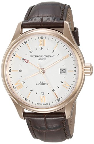 Frederique Constant Men's 'Classics Index' Silver Dial Brown Leather Strap GMT Swiss Automatic Watch With Brown Leather Band FC-350V5B4 - 51IiZ8Y 2BNxL - Frederique Constant Men's 'Classics Index' Silver Dial Brown Leather Strap GMT Swiss Automatic Watch With Brown Leather Band FC-350V5B4