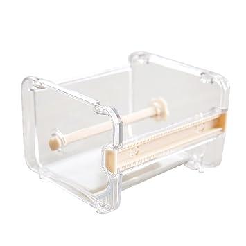 cinta de escritorio dispensador de cinta cortador de cinta washi dispensador de cinta de soporte de rollo de cinta adhesiva, beige: Amazon.es: Oficina y ...