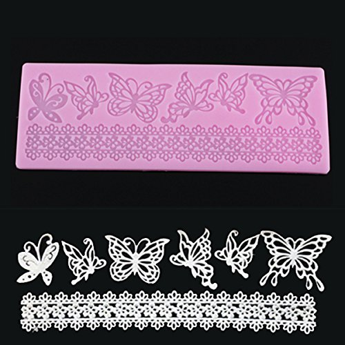 Butterfly Lace Fondant Cake Mould Chocolate Craft Mold Si...