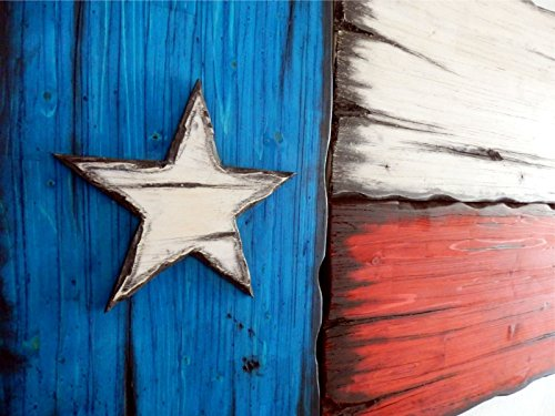 Texas Flag | Rustic decor | Τexas decor | Distressed Wood Flag | Texas wall decor | Optional customization by adding an engraved plaque by Woodcraft City