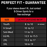 Baseball Arm Sleeve for Youth and Adults 8-12mmGh medium compression for active activities, UV protection, Moisture Wicking, Anti-bacterial, stay-in-place silicon band.