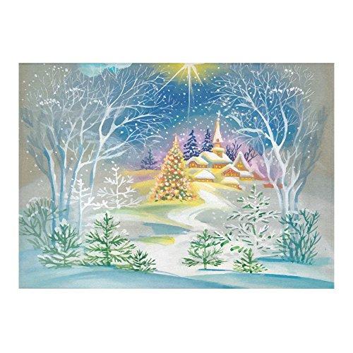 Home Decor Merry Christmas Winter Snow Cotton Linen