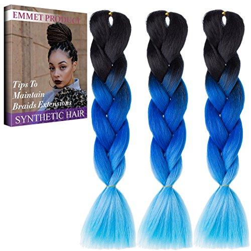 Emmet Jumbo Braiding Synthetic Hair 100g/pc 24
