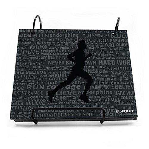 Gone For a Run BibFOLIO Race Bib Album | Bib Holder Running Inspiration Male | Black