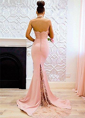 Dresses CCBubble Dresses Fushia a Straps Mermaid Bridesmaid Bridesmaid 2018 Lace Spaghetti rUtBxUwZq