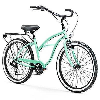 """Sixthreezero Around The Block Women's 26-Inch Single Speed Cruiser Bike, 17"""" / One Size"""