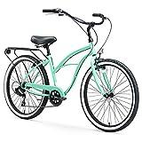 "sixthreezero 630061 Around The Block Women's 26"" Seven Speed Cruiser Bike, Mint Green, 17""/One Size"