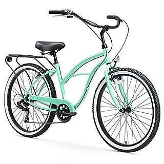 Best Womens Hybrid Bikes Under 300 Dollars: sixthreezero Around The Block Women's 7-Speed Cruiser Bicycle