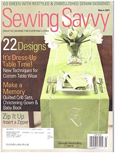 (Sewing Savvy Magazine March 2009)