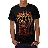 Skeleton Drummer Playing Music Men NEW Black S-5XL T-shirt | Wellcoda
