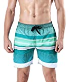 ORANSSI Men's Quick dry Swim trunks Stripes Printed - Best Reviews Guide
