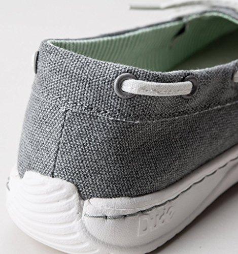 Shoe Women's Dude Moka Shoes Grey Deck Classic Canvas 0xq4wxa5