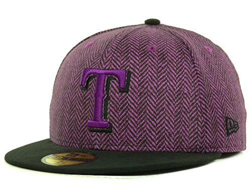 best authentic 315ce 6f5e3 Texas Rangers MLB Sub-Out 59Fifty Fitted Grape Black Hat Cap