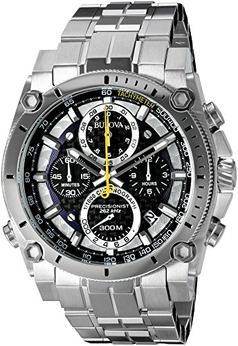 Bulova Men's 96B175 Precisionist Stainless Steel Watch (Watch Single Chrono)