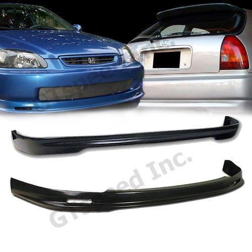 Usdm Type (COMBO SET - 1996-1998 HONDA CIVIC Hatchback Type-M Style PU FRONT & REAR Bumper Lip)